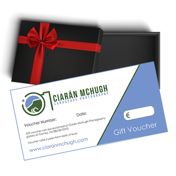 Ciaran McHugh Photography of Sligo and Ireland; Boxed Gift Voucher