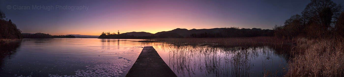 Ciaran McHugh Photography, Sligo: first light, lough gill