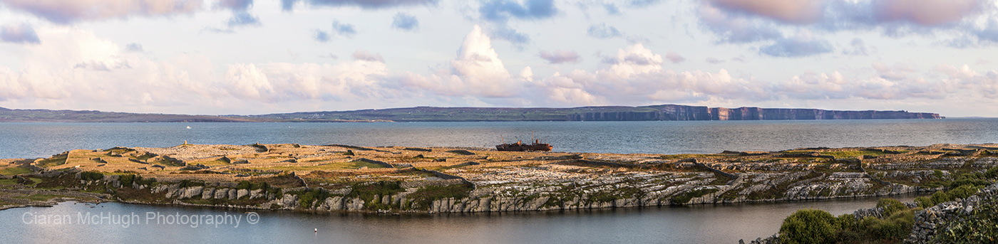 Ciaran McHugh Photography, Sligo: twilight on inis oirr