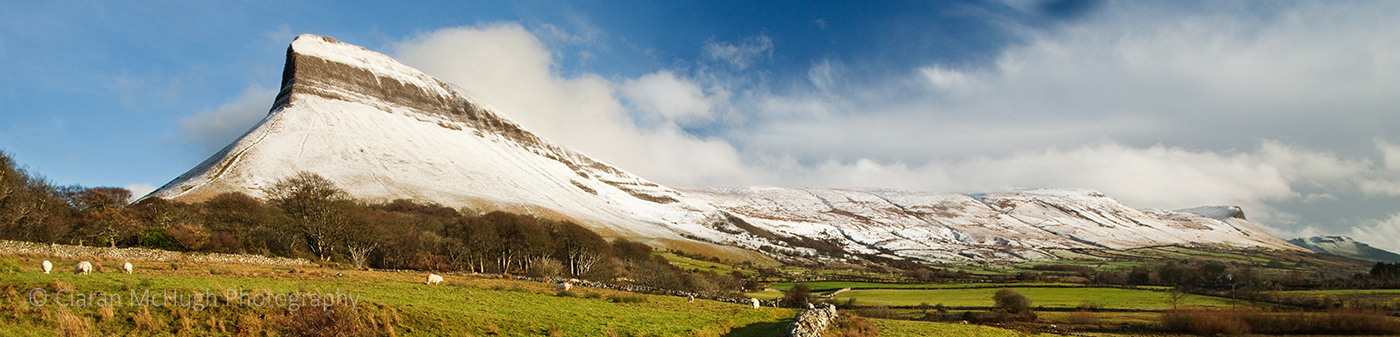 Ciaran McHugh Photography, Sligo: snow capped benbulben