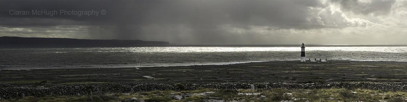 Ciaran McHugh Photography, Sligo: storm clouds clearing inis oirr