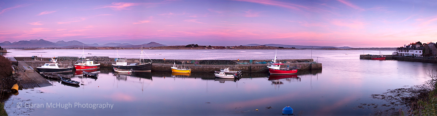 Ciaran McHugh Photography, Sligo: twilight at roundstone harbour